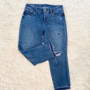 Talbots distressed slim ankle jeans 8P